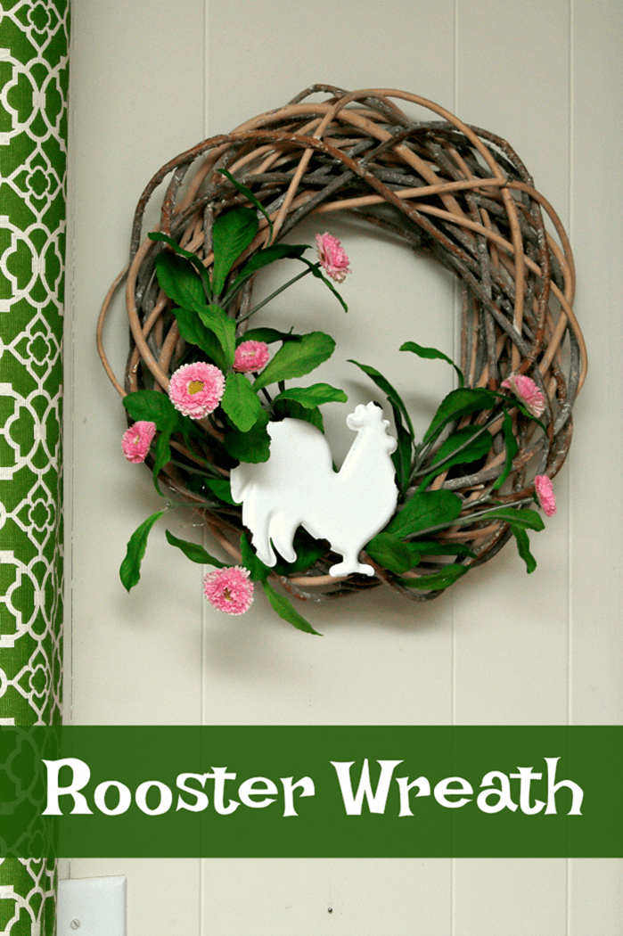 How To Make A Fun Whimsical Rooster Wreath
