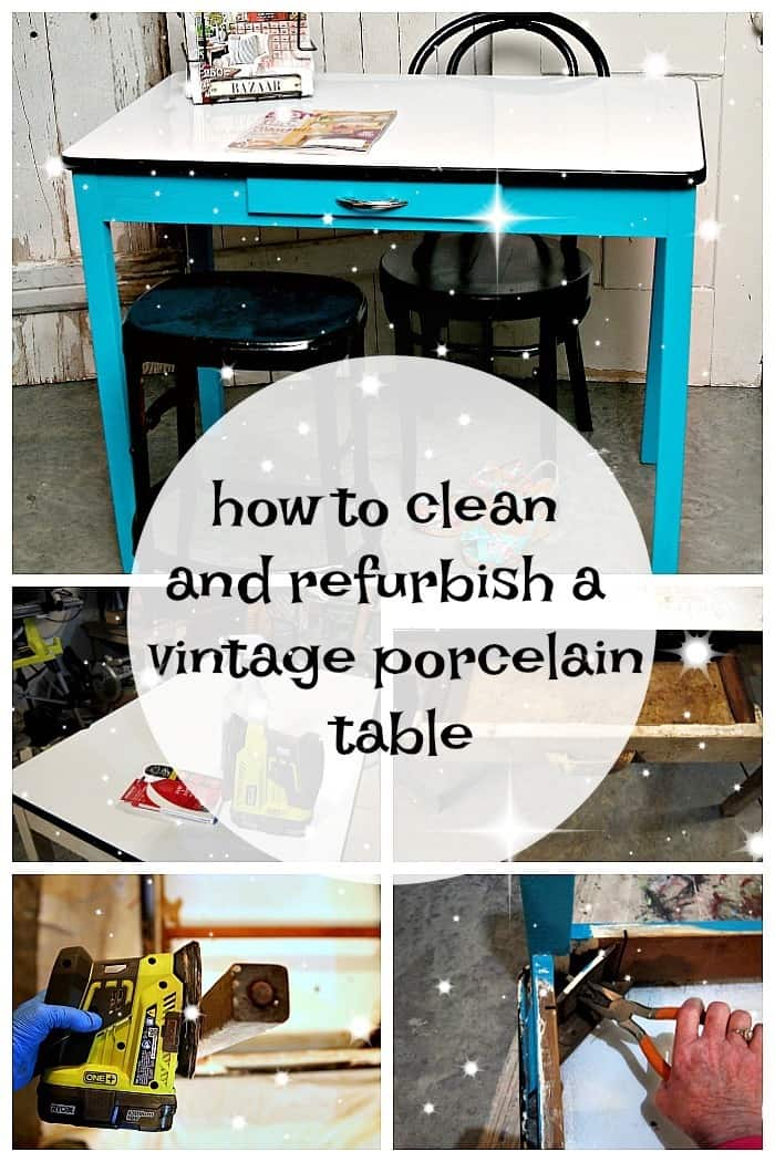 How to clean and refurbish a vintage porcelain table
