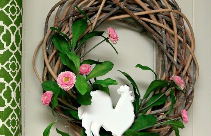 DIY Rooster Wreath