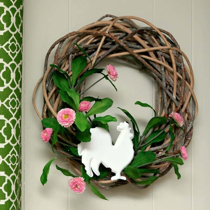 DIY Rooster Wreath Idea Will Have You Crowing