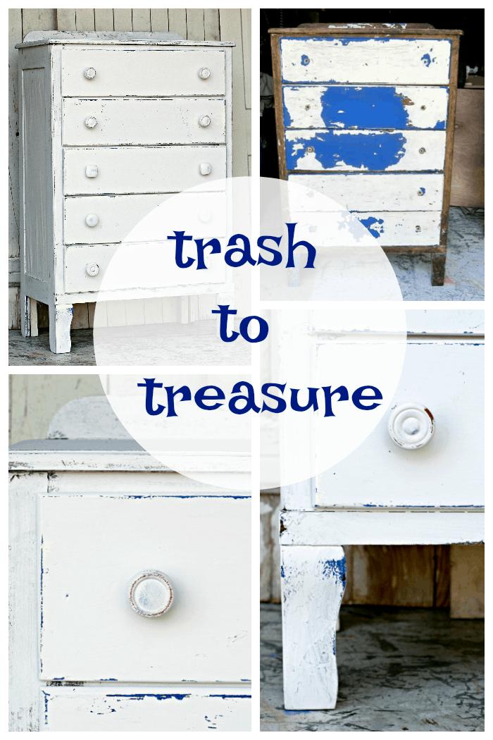 Trash To Treasure Coastal Cottage Inspired Furniture Makeover