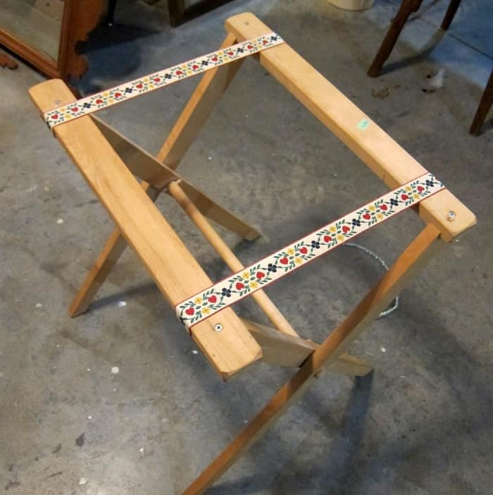 folding tray table found at Goodwill
