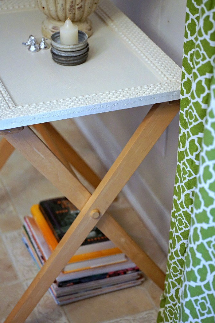 how to add a top to a folding tray table