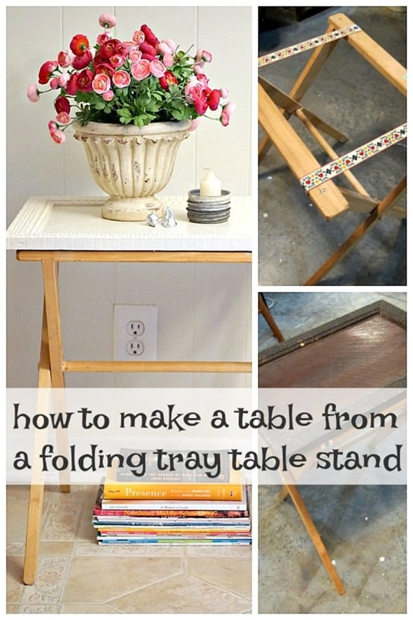 how to make a table from a folding tray table stand