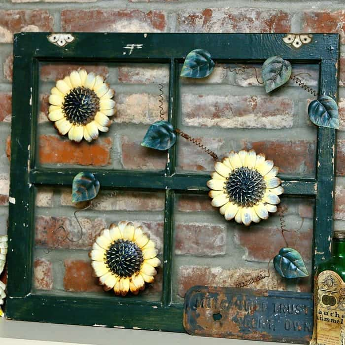 how to recycle an old window using what you have at home