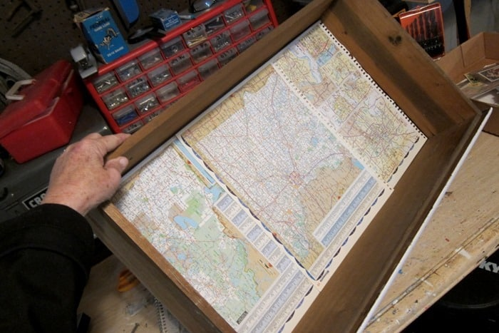 old atlas map pages make great furniture drawer liners