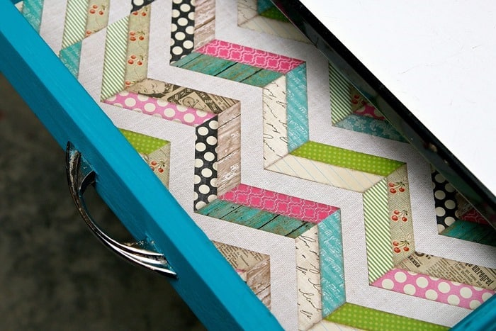 scrapbook paper drawer liner