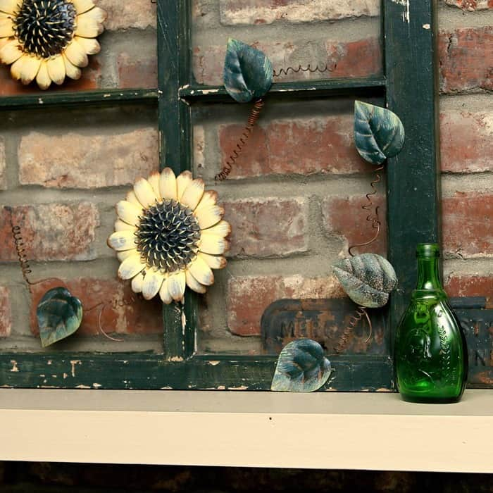 sunflower window upcycle recycle