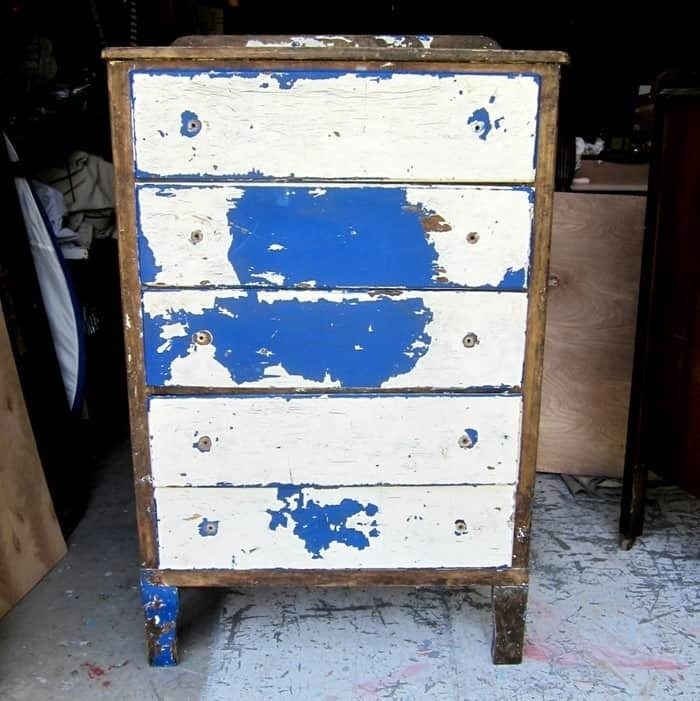 trash to treasure furniture waiting for paint makeover