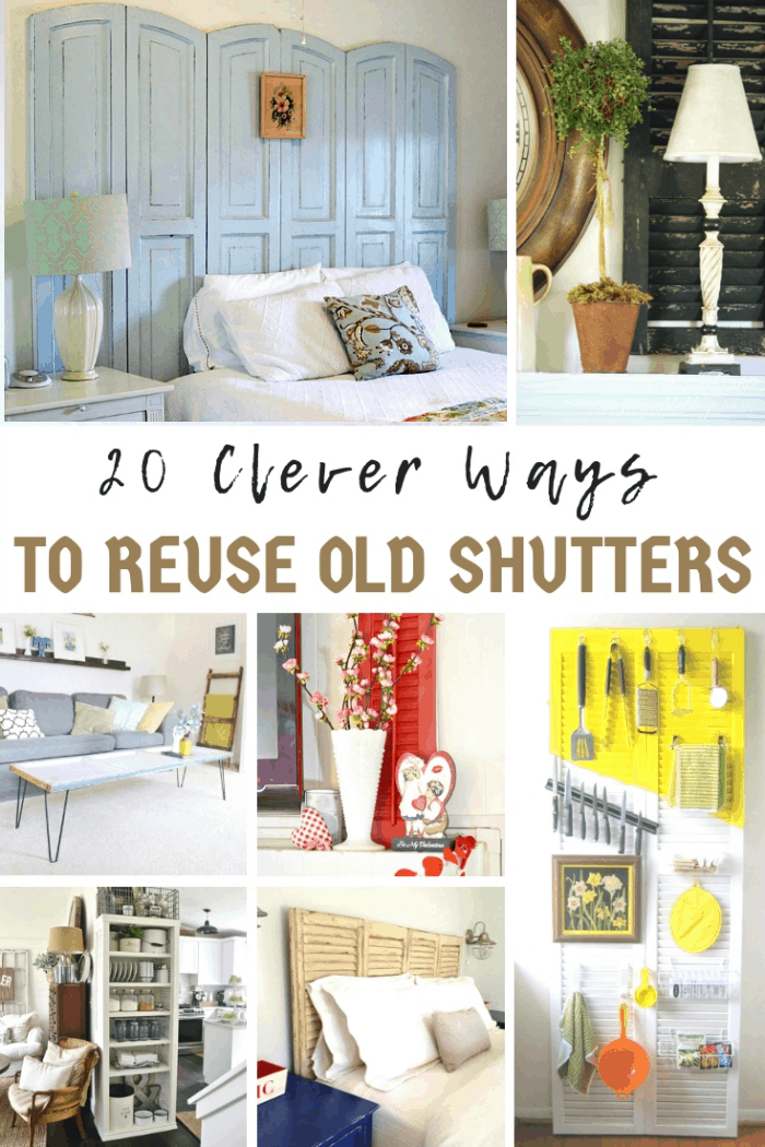 Clever Ways To Reuse Old Shutters