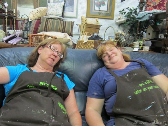 Kathy and Sara after a painting workshop