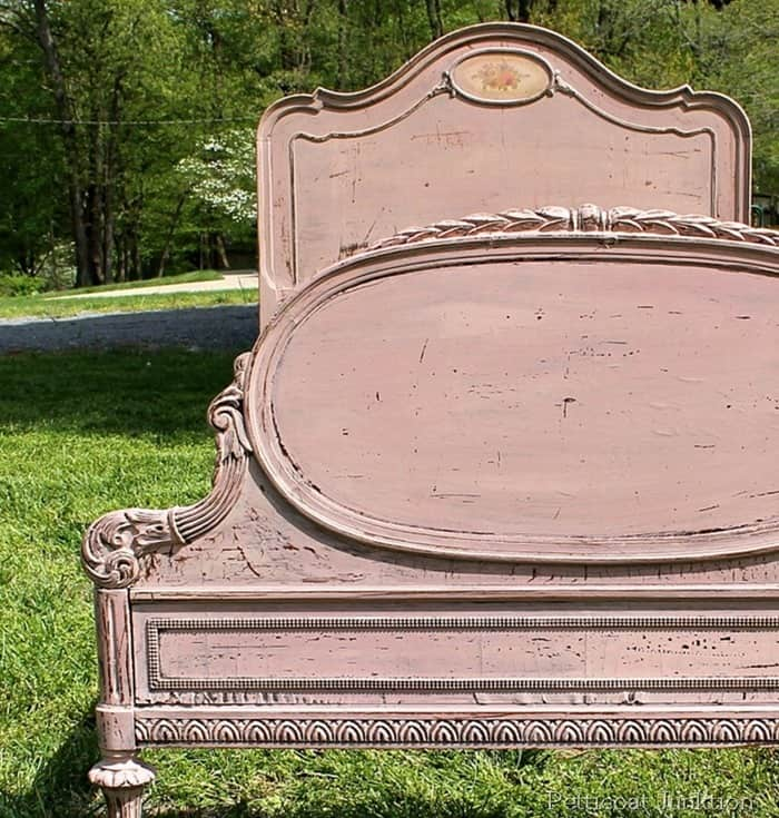 Miss Mustard Seeds Milk Paint Project featuring an Antique Bed
