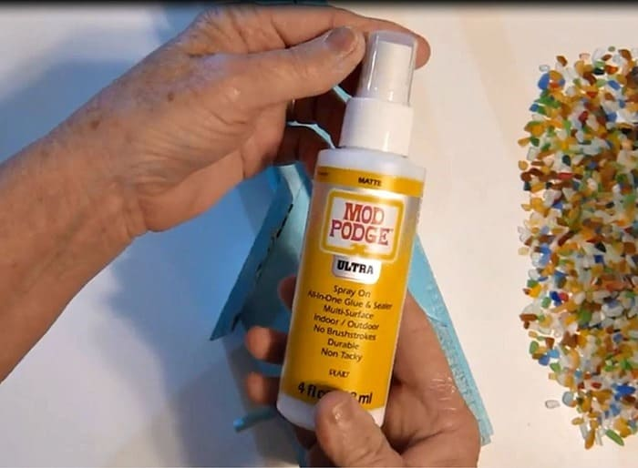 Mod Podge Ultra to add embellishments to diy projects