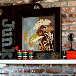 Thrifty Finds Spark A Mantel Makeover