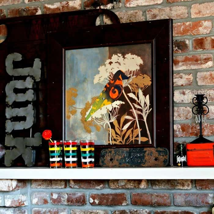Two Thrifty Finds Spark A Mantel Makeover