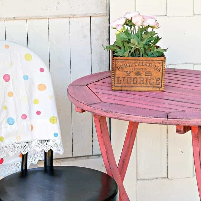 How To Paint A Folding Wood Table To Look Naturally Worn