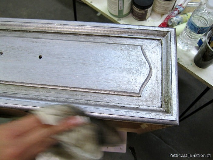 how to antique metallic silver paint