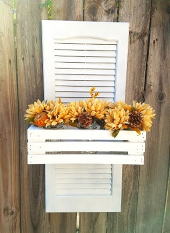 shutter planter from wonderful creations blog
