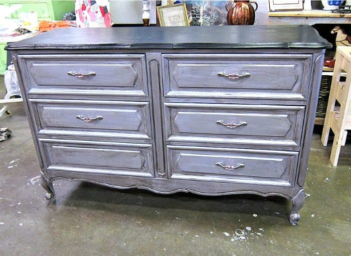 two tone black and silver furniture