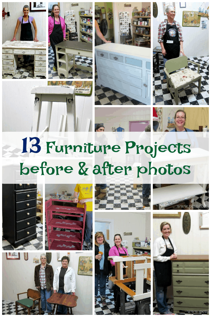 13 furniture makeovers from our furniture painting workshops