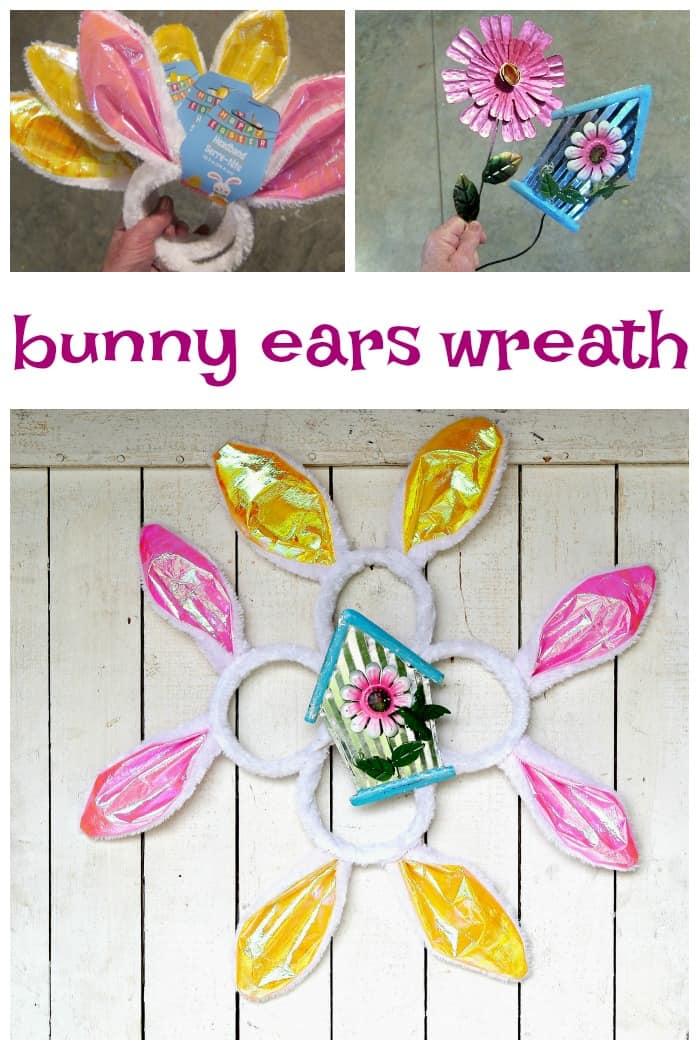 Bunny Ears Wreath a Dollar Tree Craft