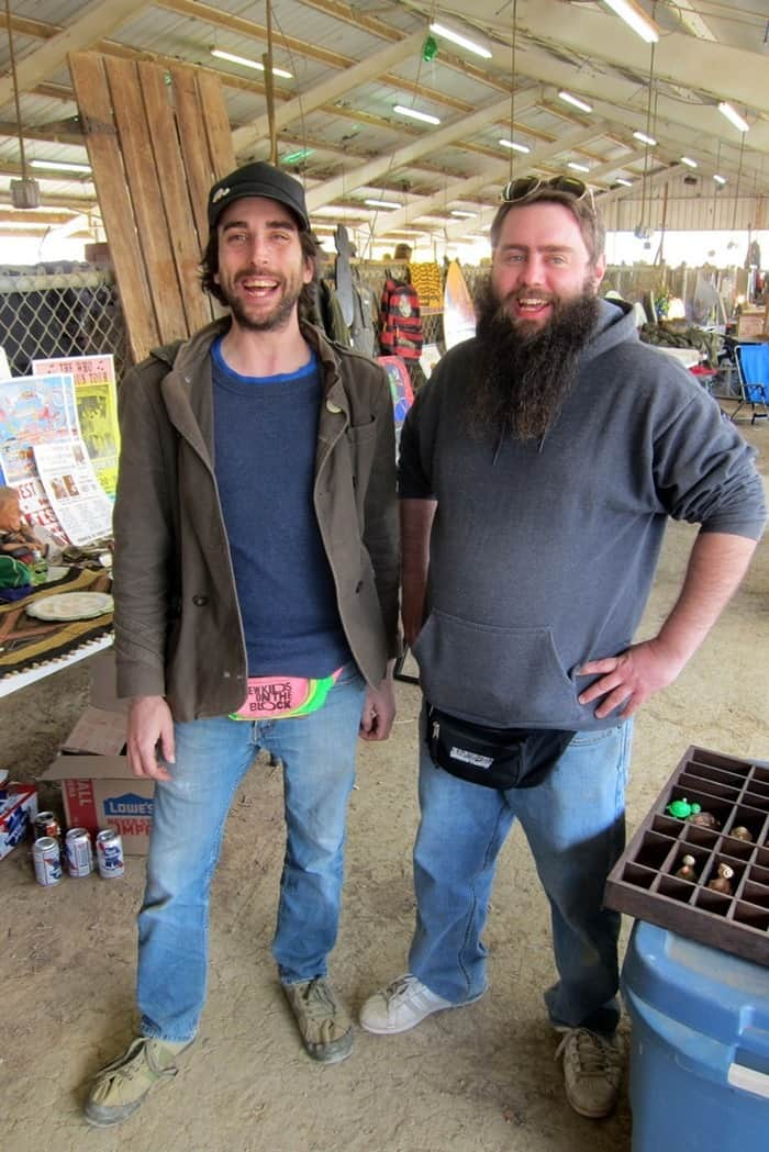Caleb and Eric at the Nashville Flea Market photo by Petticoat Junktion