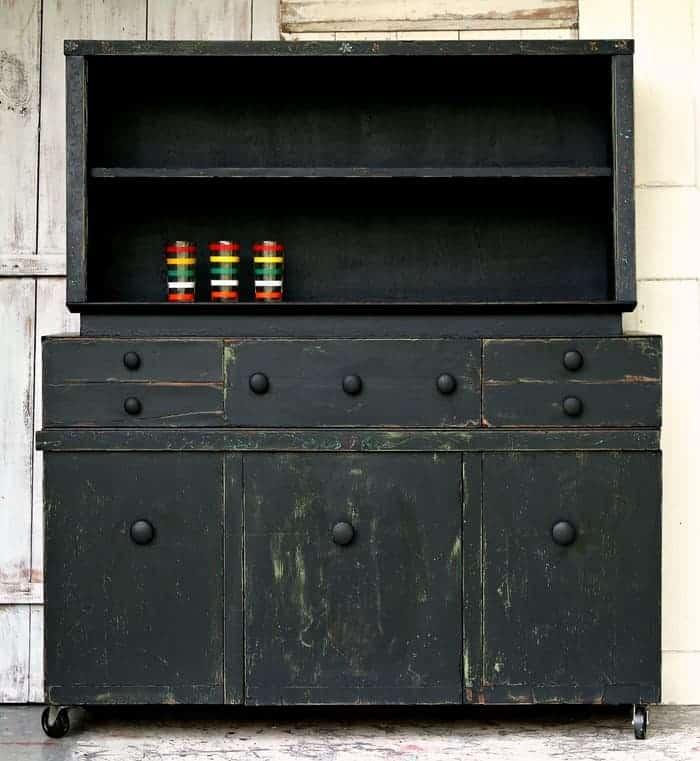 Black Farmhouse Style Hutch