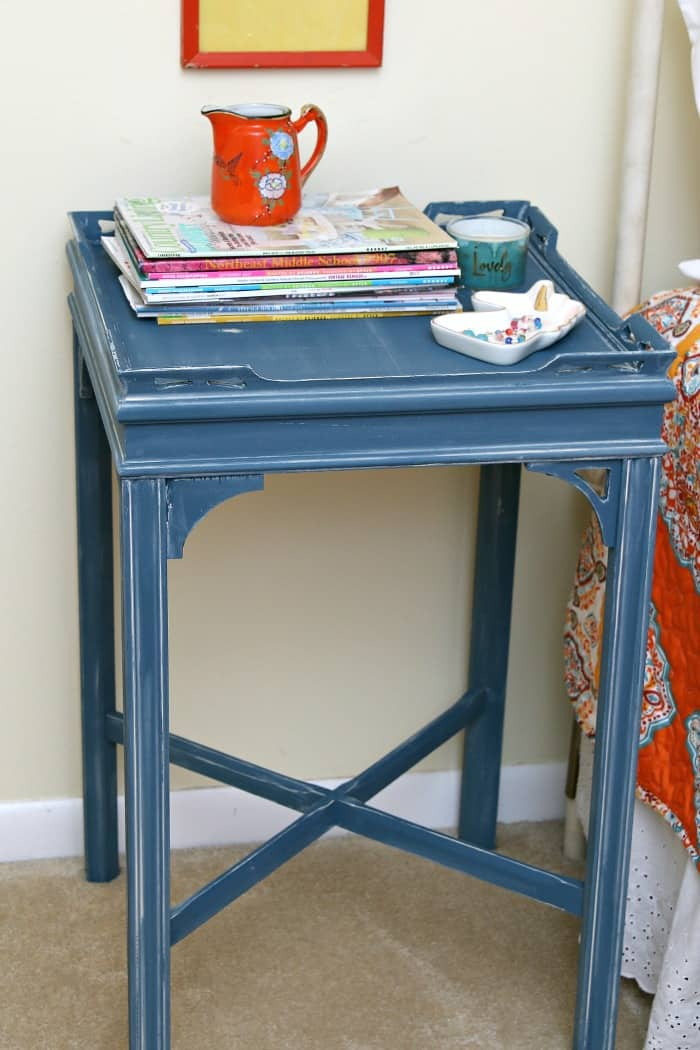 How To Apply White Wax Over Chalk Type Painted Furniture