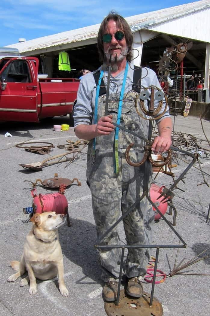 Jimbo Bradley of Bradley Metal Works at the Nashville Flea Market