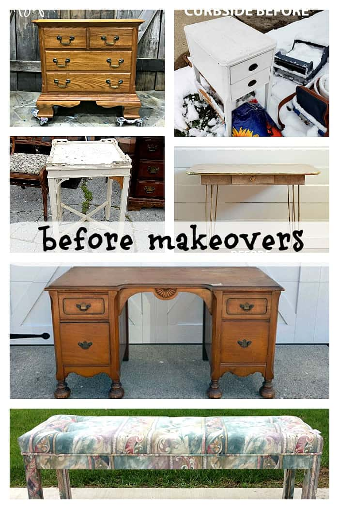 furniture fixer upper projects before paint makeovers