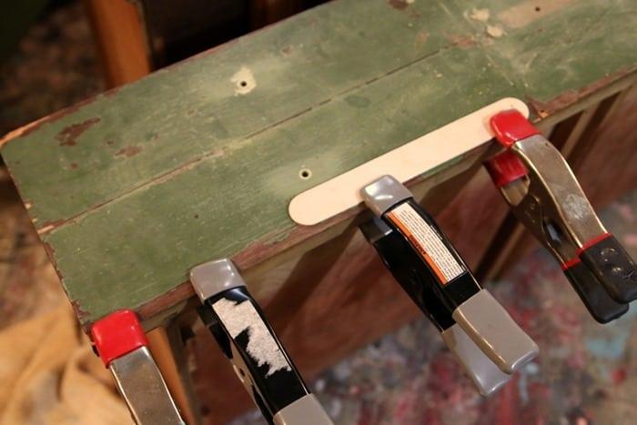 glue damaged veneer on furniture