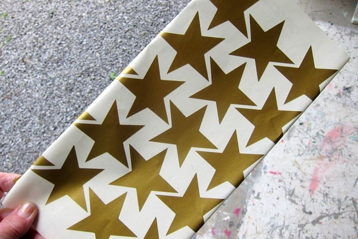 gold star decals