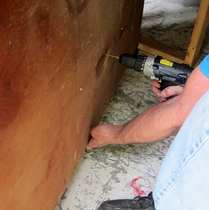 making repairs on vintage furniture