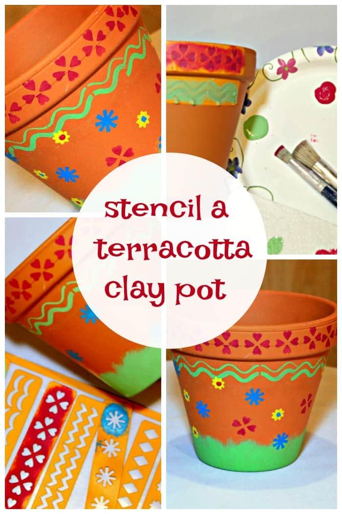 paint a terracotta clay pot