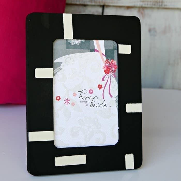 picture frame for Bride's invitation