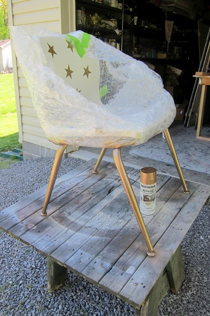protect furniture from spray paint overspray