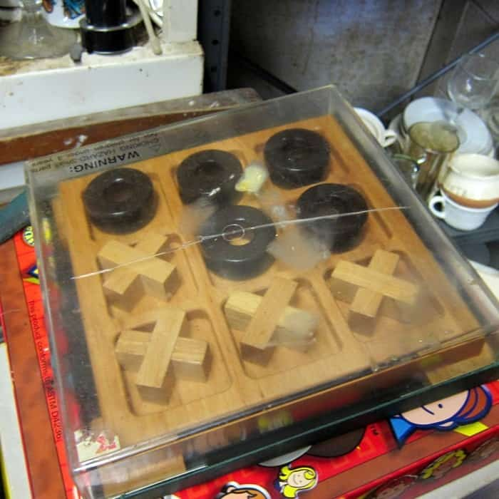 wood tic tac toe set to paint