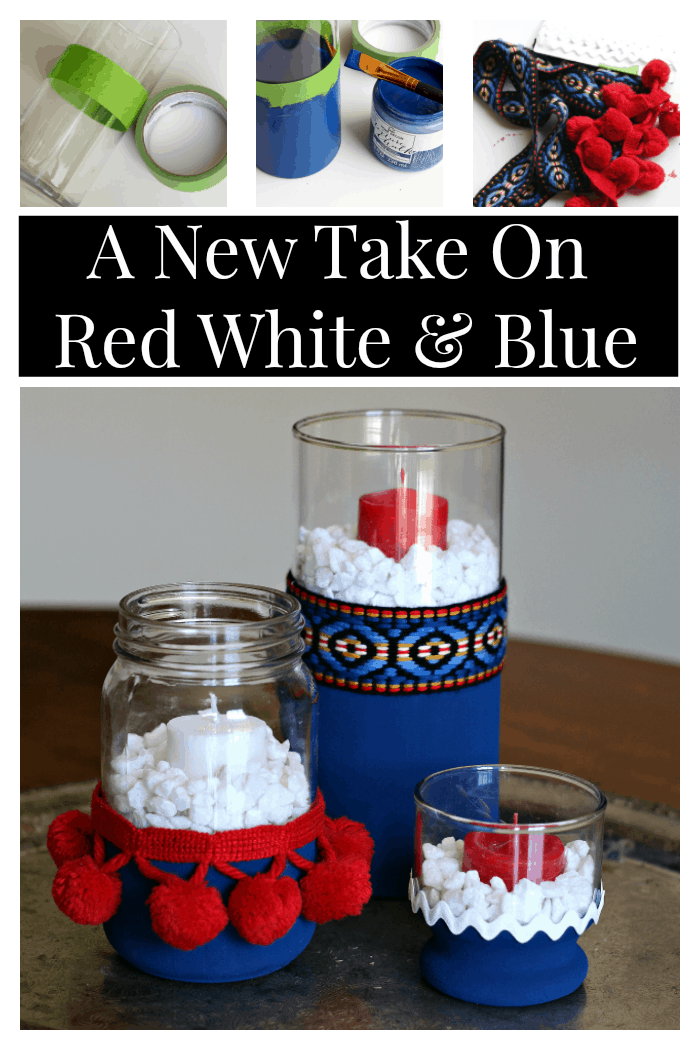 A New Take On Red White And Blue Home Decor