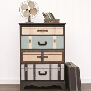 Suitcase Chest of Drawers by Jen Girl in the Garage found in the book Amazing Furniture Makeovers
