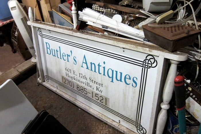 Butler's Antiques my favorite junk shop in Hopkinsville Ky