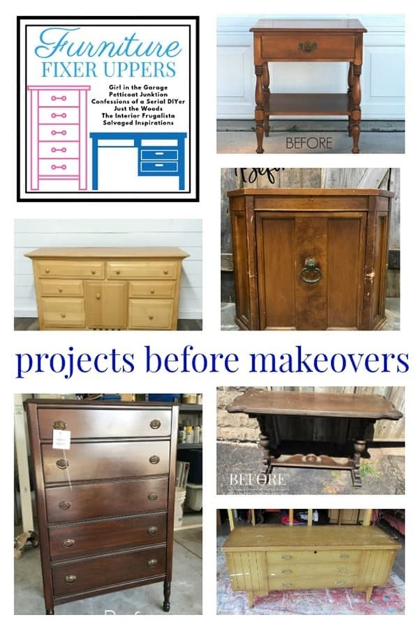 Furniture Fixer Uppers furniture projects before paint makeovers