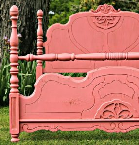 How to make painted furniture look old by using dark wax on the paint.