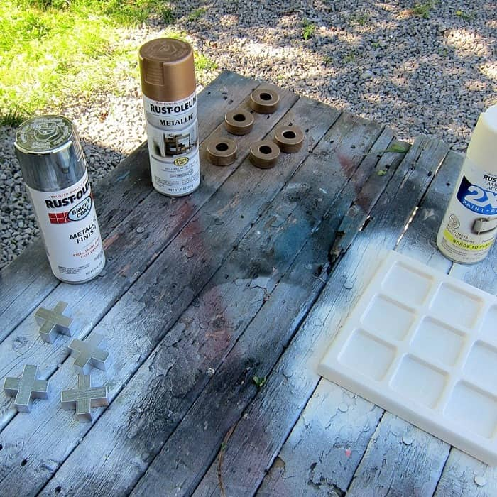 home decor spray paint project