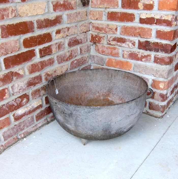 large cast iron pot for flowers
