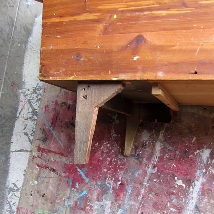 repaired furniture leg