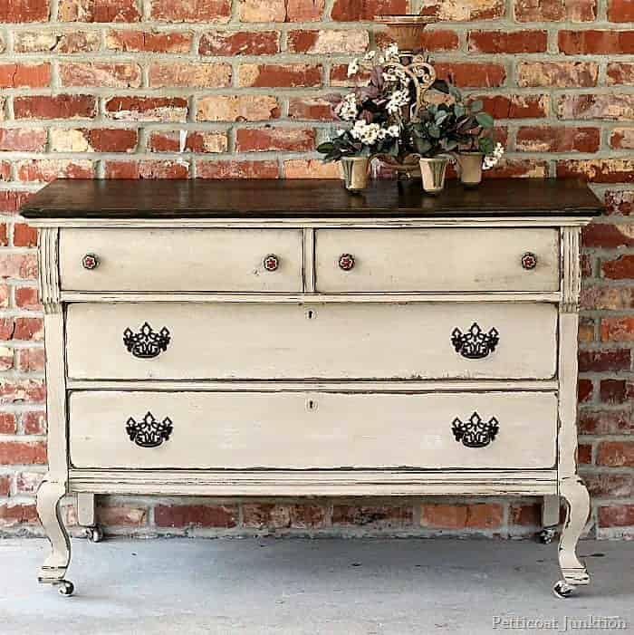two tone furniture makeover