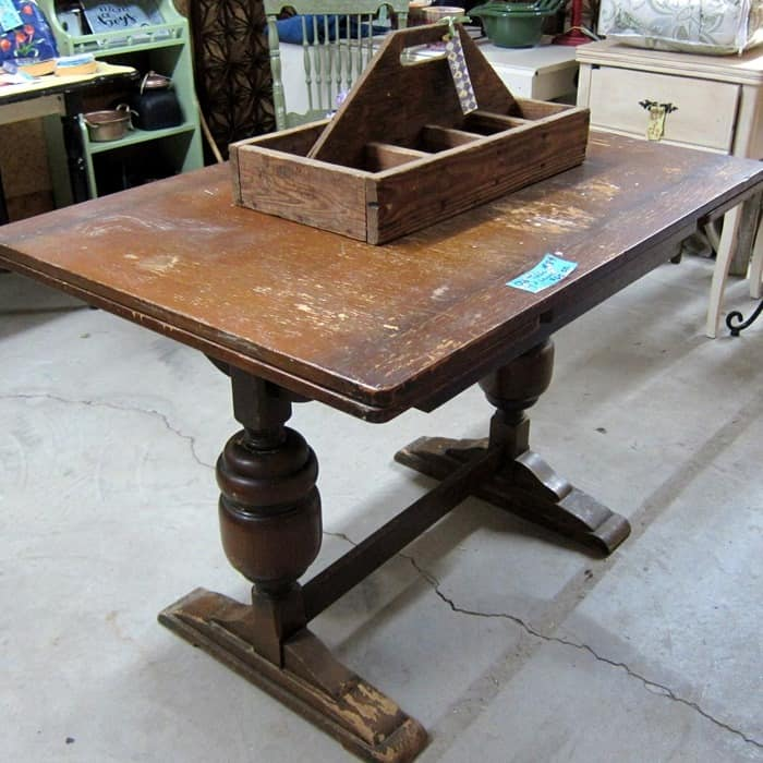 used table from the flea market