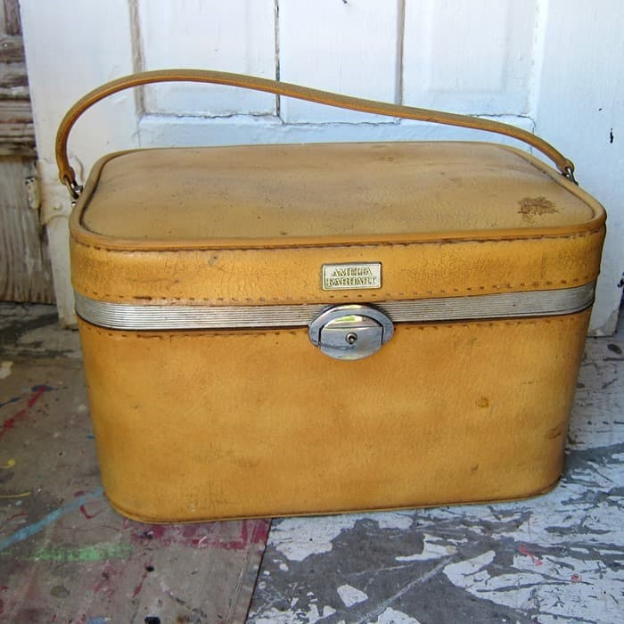 vintage yellow travel case from my favorite junk shop