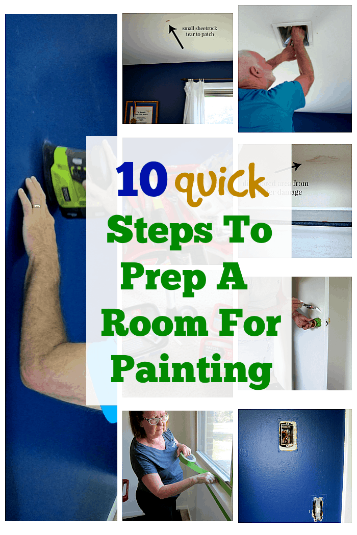 10 quick steps to prep a room for painting