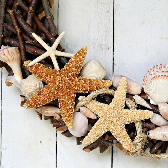 DIY Sisal Rope And Seashell Wreath | Vacation Memories